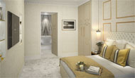 En Suite Bathroom in a Mayfair, London, apartment conversion by Peter Lind and Company